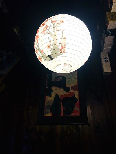 Night Hanging Illuminated Lighting Equipment Low Angle View Indoors  Built Structure Architecture Lantern No People Close-up 혼술 꼬지사께 Drink Alone 늦은밤 우울함 Indoors  산만함 Still Life