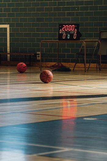 View of basketball hoop against wall