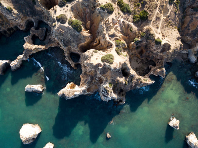 Algarve Beauty In Nature Nature No People Rock - Object Rock Formation Water