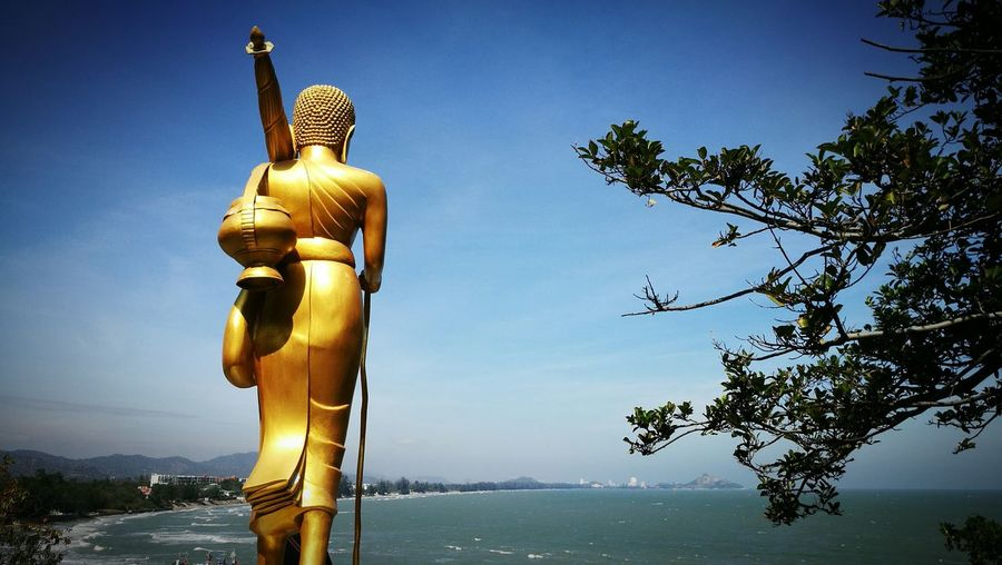 Seaview EyeEm Selects Seascape Sky Buddist Temple Travel Outdoors Sky Day Buddha Countryside