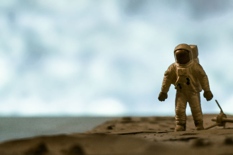 Close up of a toy astronaut