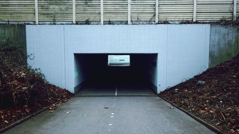 Built Structure Architecture No People Exit Sign Outdoors Day The Way Forward Tunnel Urban City