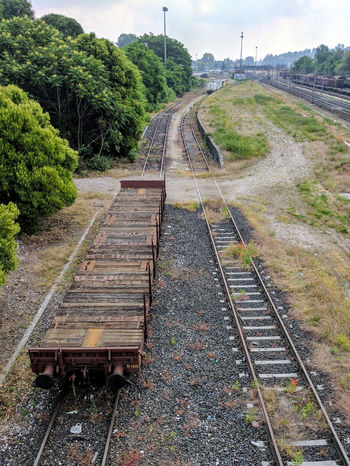 Day Nature No People Outdoors Public Transportation Rail Transportation Railroad Tie Railroad Track Railroad Track Reailway Sky The Way Forward Train Train - Vehicle Train Station Train Tracks Trainphotography Transportation Tree