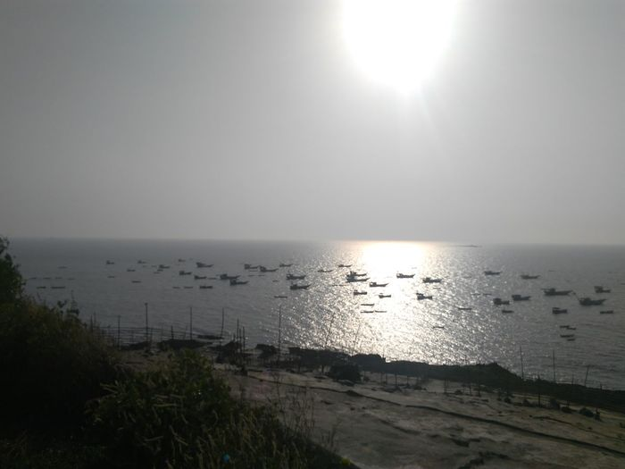 Fishing Boats Too Many Fishing Boats Uttan Light House Bhayander India Sunset_collection Before Sunset Top View