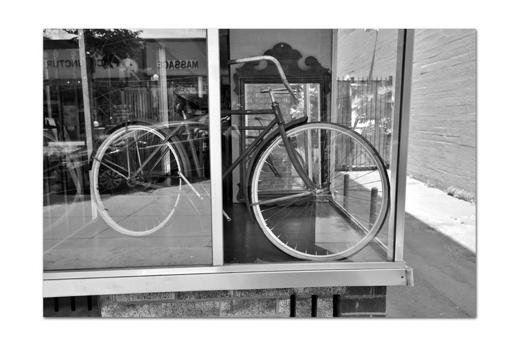 How I Long For Yesterday 5 Antique Shop Display Window Hayward, Ca. Bnw_friday_eyeemchallenge Bnw_retrospect Retro Bicycle No Motors No Fancy Gears Inexpensive Peddle Power Nostalgia Days Gone By Monochrome_Photography Monochrome Black & White Black & White Photography Black And White Black And White Collection  Glass Window Antique Mirror Reflections Reflected Glory Old-fashioned Building Exterior