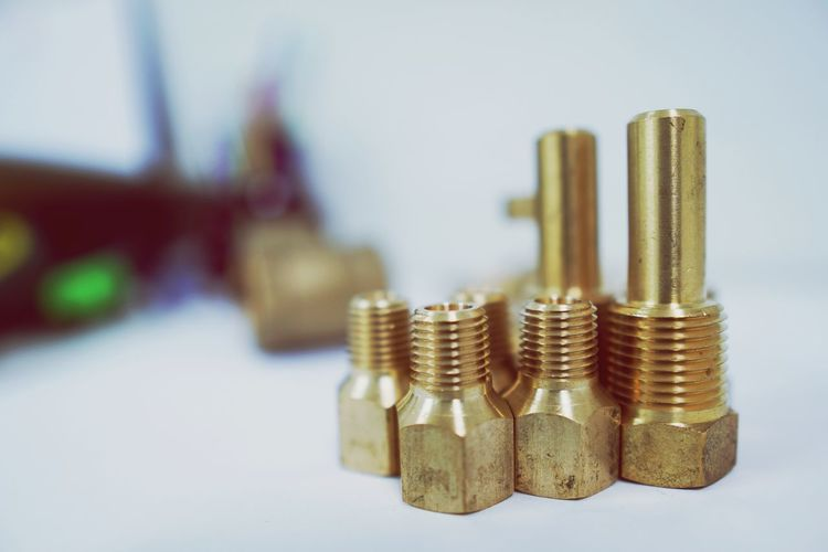 Pressure Snubber Port Nut EyeEm Selects Gold Colored Gold Close-up Nut - Fastener Bolt Tool Iron - Metal Screw