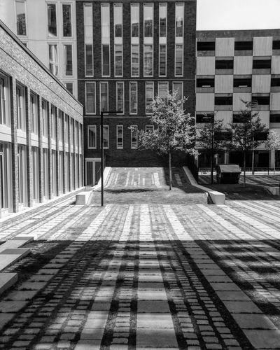 Architecture Building Exterior Built Structure Outdoors City No People Day Shadow Sky Hamburg Travel Bnw Blackandwhite Photography Black And White Black & White Monochrome Street Photography Light And Shadow Sunnyday City Architecture Modern Architecture Pattern