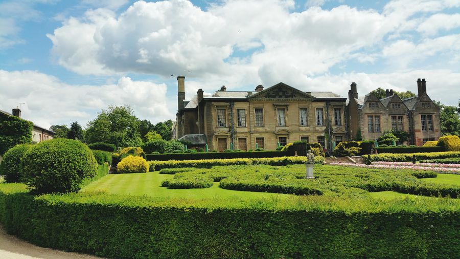 Palace with formal garden in coombe country park