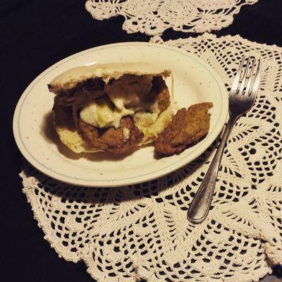 Pita. Falafel. Salat. Vegane Joghurtsauce. Foodporn Vegan