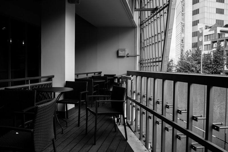 Relaxing Monochrome Black & White Starbucks rest