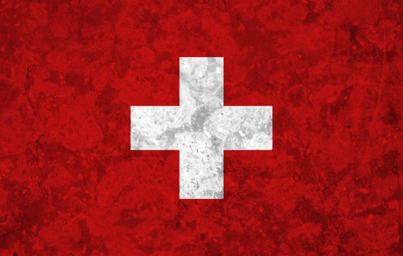 Swiss flag Backgrounds Close-up Communication Cross Cross Shape Day Directly Above Full Frame No People Outdoors Paint Pattern Red Red Background Rough Sign Sport Symbol Textured  White Color