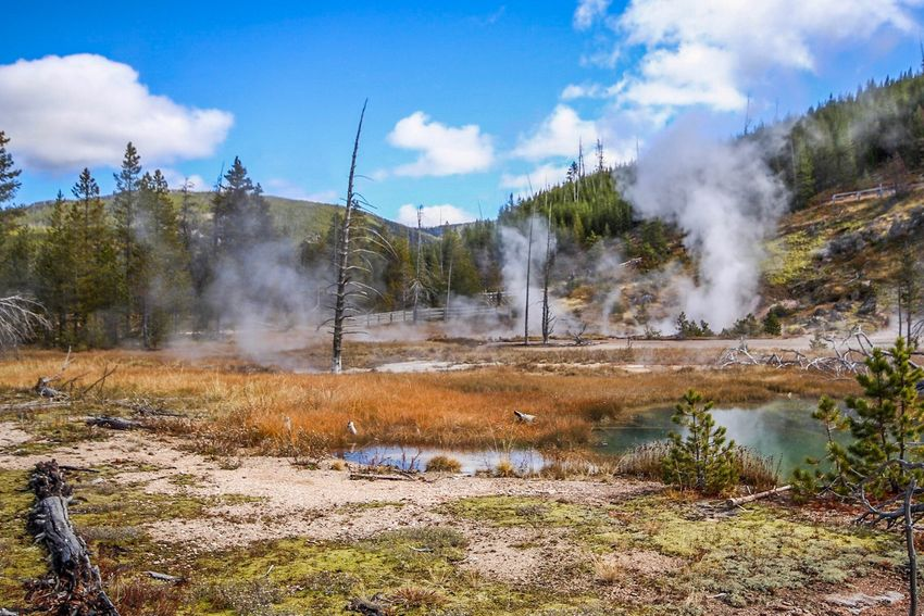 Artists Paint Pots Artist Paint Pots National Park Yellowstone National Park Smoke - Physical Structure Geyser Hot Spring Geology The Great Outdoors - 2018 EyeEm Awards