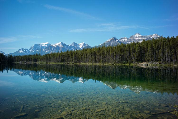Banff  Banff Alberta Banff National Park  Banff, Alberta Banfftourism Herbert Lake Lake Lake Herbert Lake View