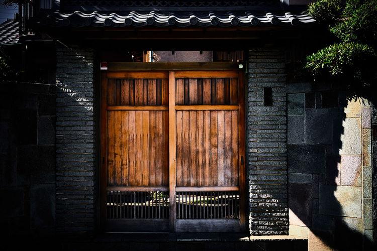 Wooden sliding door in japan