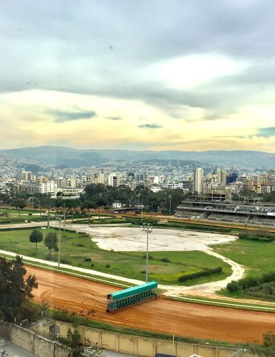 Beirut Hippodrome Horses Boxes Cityscape Cloud - Sky The Place I've Been Today Mobile Photography Sky Beautiful Colors Stunning View Check It Out