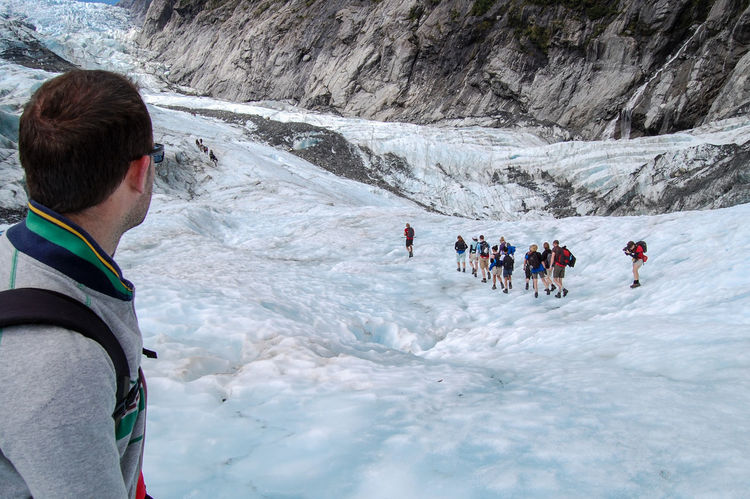 Heading up the Franz Josef Glacier, New Zealand with my buddies Adventure Adventure Buddies Beauty In Nature Cold Temperature Enjoyment Franz Josef Glacier Geology Idyllic Majestic Mountain Nature Non-urban Scene Recreational Pursuit Scenics Snow Tranquil Scene Tranquility Winter It's Cold Outside
