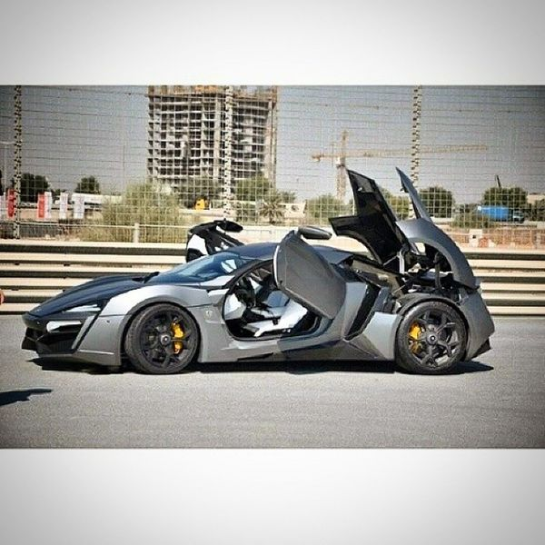 A Beauty Lykan Hypersport stop on Track . fast luxury racer dubai circuit