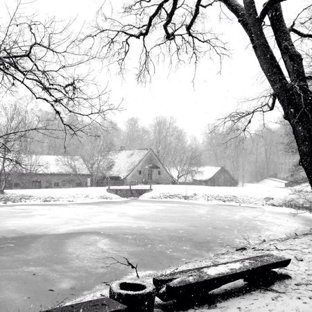 Jaunpils Latvia Winter Wonderland