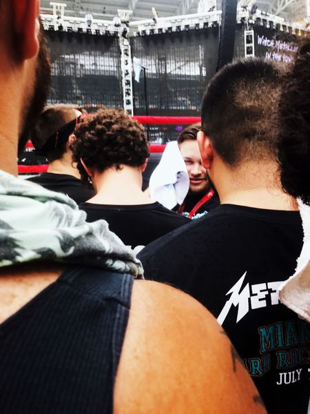 Mix Yourself A Good Time Son Front Row Men Togetherness Rear View Women Real People Indoors  Day Adult Young Adult Boxing Ring Adults Only People Outdoors Waiting For The Show Concert Metal Metallica Miami Music Together Met Famillie