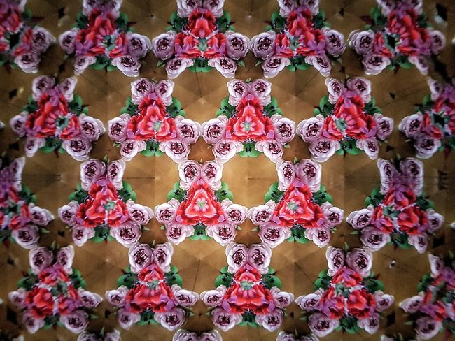 Caleidoscope Kaleidoscope Kaleidoscope Effects Flower Roses Textured  Geometric Shape Pattern Full Frame Backgrounds Abstract Backgrounds Multi Colored Close-up Flower Head Floral Pattern
