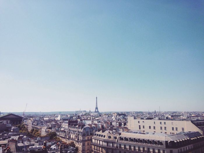 IPhoneography Paris Eiffel Tower Blue Sky Rooftop My Year My View Landscape Landmark Happy Clear Sky Go Higher