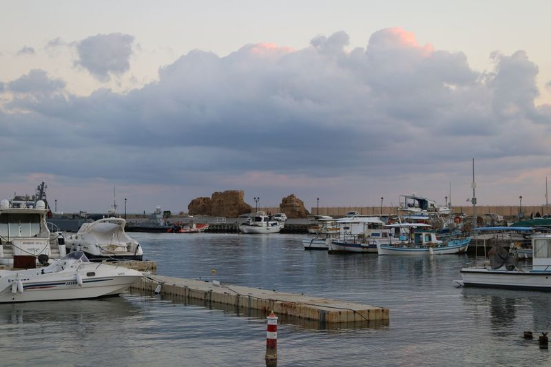 Cyprus Paphos Paphos Cyprus Sunset Sky And Clouds Sea And Sky Nautical Vessel Cloud - Sky Sky Water Sea Mode Of Transport Transportation Built Structure Moored Outdoors Harbor Nature Tranquility Scenics Architecture Building Exterior No People Day Sailboat Beauty In Nature