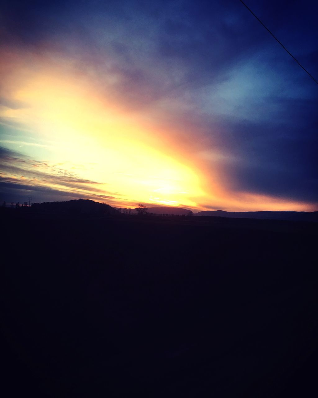sunset, nature, silhouette, dark, beauty in nature, no people, sky