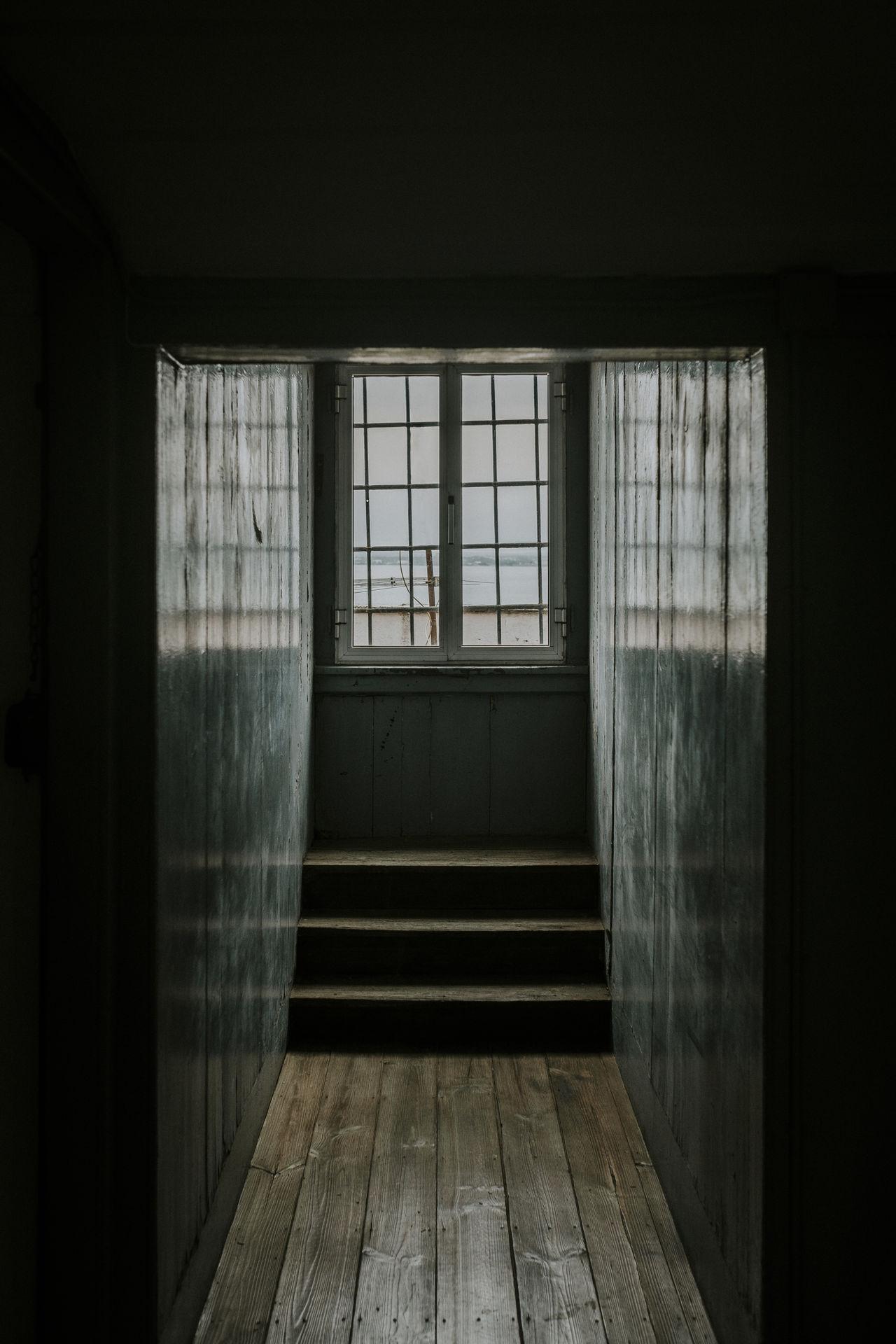 Empty corridor in house