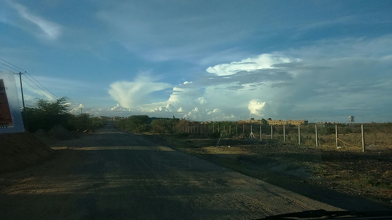sky, cloud - sky, no people, outdoors, road, landscape, day, nature, scenics, beauty in nature, tree