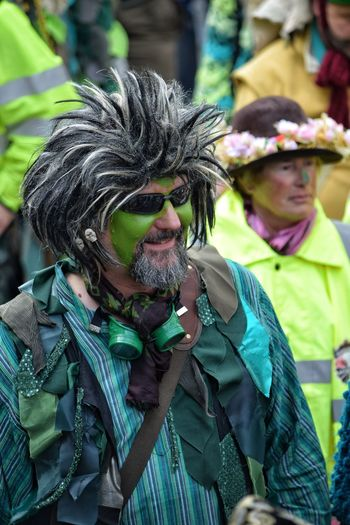 Jack In The Green Festival Hastings May Day 2017 May Day Headdress Excentric Celebration Green Color Arts Culture And Entertainment Front View Wig Celebration Tradition Enjoyment Face Paint Happiness Performance Real People One Man Only Mid Adult Outdoors East Sussex Color Human Face Live For The Story