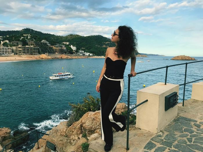 Water Sea Young Adult One Person Sky Young Women Day Nature Leisure Activity Standing Casual Clothing Full Length Outdoors Built Structure Nautical Vessel Lifestyles Beauty In Nature Scenics Architecture Women