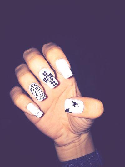 My Nails 😍 Nails Fashion Enjoying Life Blackandwhite