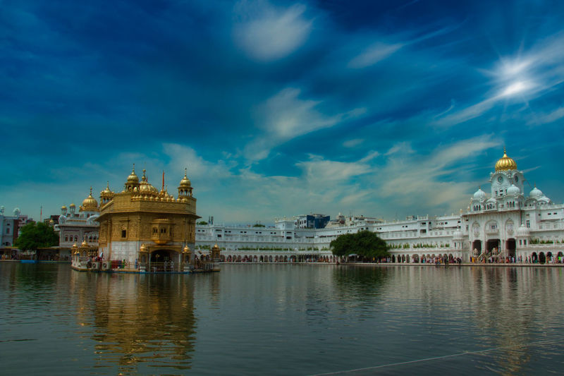 The golden temple in amritsar india