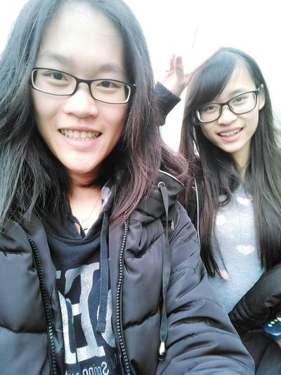 一個月不見了, 下個月再見 Me And My Sister We Are Family One Month Ago. Miss Girl Beauty On A Holiday Travel Yilan, Taiwan Self Portrait