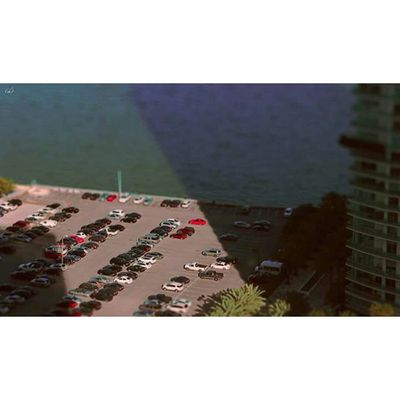 Miniature Little Tilt Shift Tiltandshift Tiltshift Sea Conrad Hotel ConradHotel Cars Automobile Skybar Miami Brickell