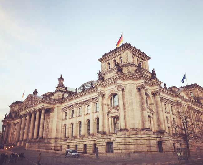 Reichstag Reichstag Berlin Architecture Built Structure Building Exterior Travel Destinations History Travel Government Tourism Low Angle View first eyeem photo