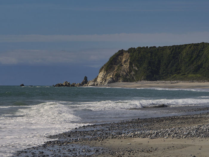 Mokihinui Gentle Annie Beach on the west coast of New Zealand's South Island Sea Water Beach Land Sky Beauty In Nature Scenics - Nature Motion Nature Rock Wave Tranquility No People Day Tranquil Scene Rock - Object Solid Sport Cloud - Sky Outdoors Power In Nature NZ South Island Mokihinui
