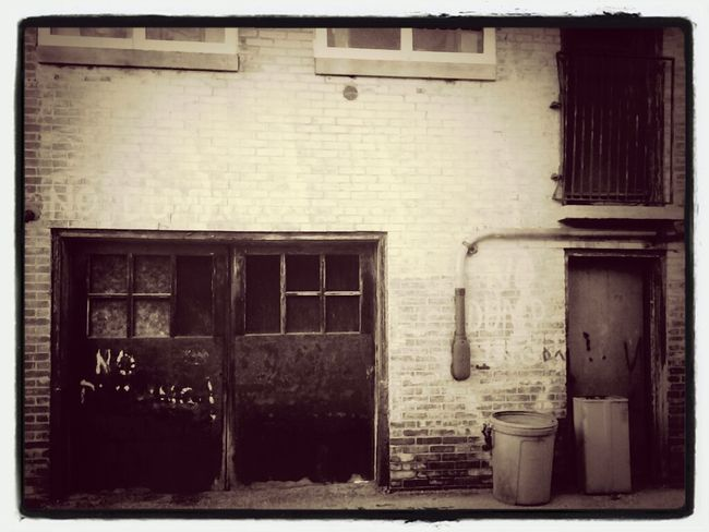 Sepia Beauty Of Decay Back Alleys Small Town USA