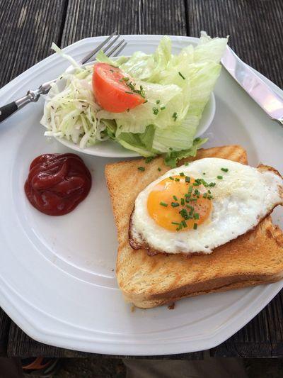 Picknick Food Egg Krautsalat Outdoors Lunch Toast
