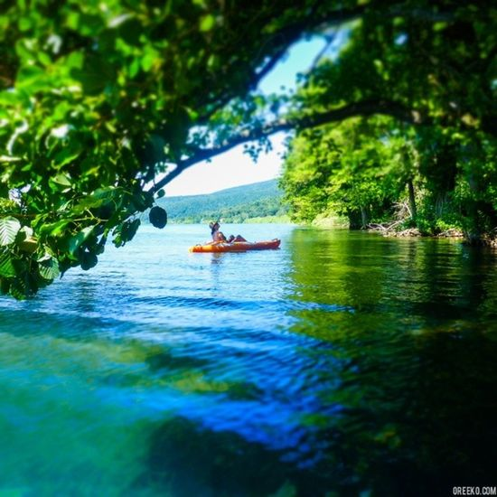 Kayaking. Swimming. Exploring. Lagobracciano Trevignanoromano Kayak Lazio nature lake