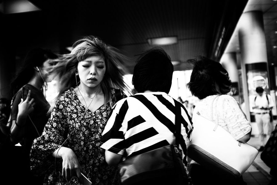 The Street Photographer - 2018 EyeEm Awards Adult Casual Clothing Group Group Of People Hairstyle Incidental People Indoors  Leisure Activity Lifestyles Medium Group Of People Men People Real People Rear View Standing Togetherness Transportation Waist Up Walking Women
