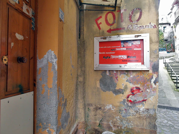 Old photographer shop Italia South Italy Architecture Calabria Close-up Closed Shop Communication Fire Alarm No People Old Shop Outdoors Photographer Shop Red Signboard Text Verbicaro