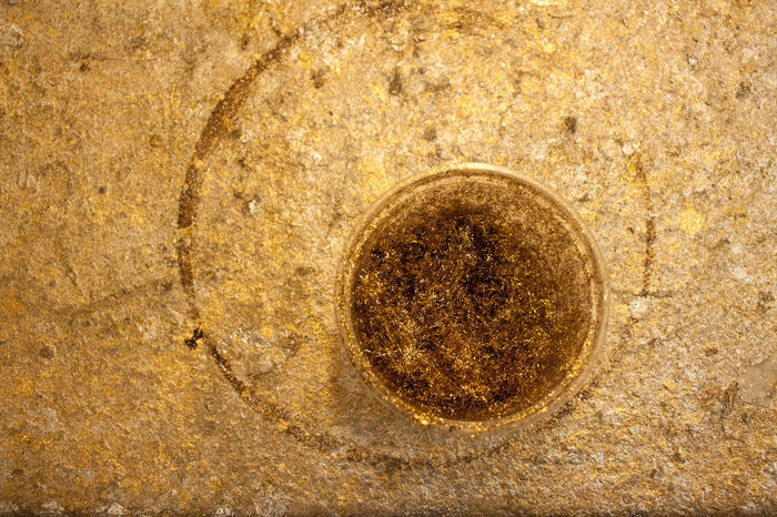 Backgrounds Circle Close-up Directly Above Geometric Shape Gilding Gold Gold Colored Metal No People Ormolu Shape Textured  Textured Effect