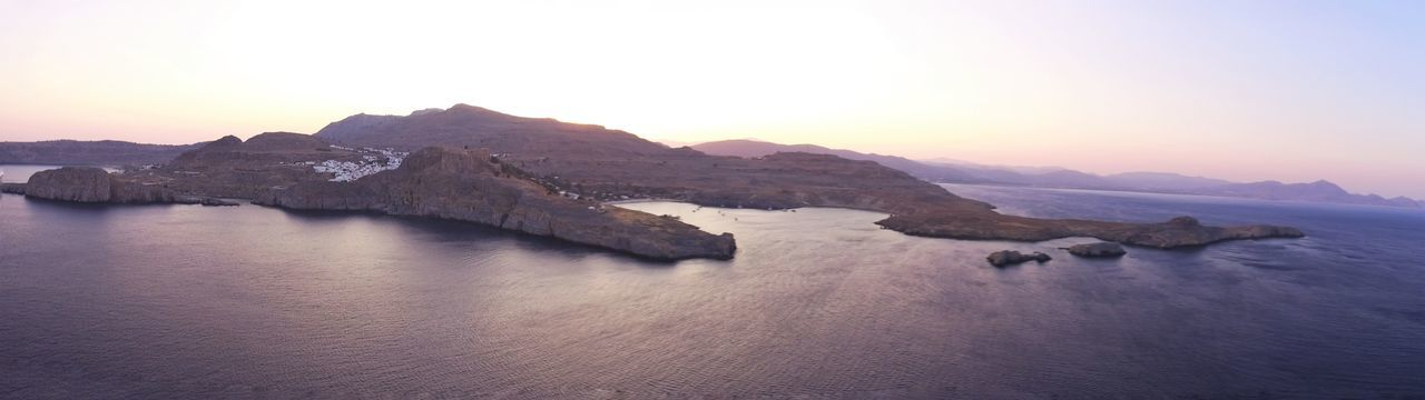 flying with the drone Lindos Greece Water Cold Temperature Sunset Mountain Winter Astronomy Snow Lake Glacier Ice