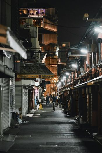 Tokyo Built Structure Architecture Illuminated City Night Building Exterior Incidental People The Way Forward Direction Building Residential District Street Lighting Equipment HUAWEI Photo Award: After Dark