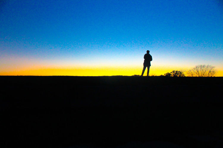 Be. Ready. Sky Blue Sunset Adventure Hiking One Person Adult Nature One Man Only Outdoors Day Evening Eira Helsinki Hill Looking Future Today Passed Past Hope Hopes And Dreams Canon Canonphotography