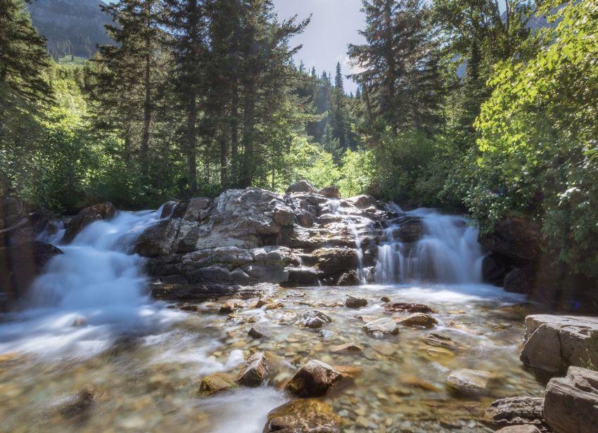 Waterton lakes Waterfall Long Exposure Nature Tranquility Travel Alberta Canada Waterton Lakes National Park First Eyeem Photo
