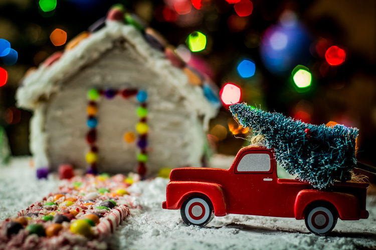Christmas tree for the gingerbread house Gingerbread Holiday Food Winter Snow Gingerbreadhouse Gingerbread House Truck Red Truck Background Christmas Bokeh Christmas Tree Night Before Christmas Holidays Candy Candycane  Candy Cane Bokeh Treat Food EyeEm Selects Christmas Decoration Christmas Multi Colored Red Outdoors Night Illuminated No People Tree