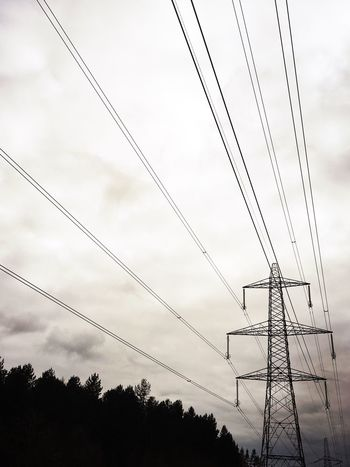 Pylons And Power Lines Pylons ShotOniPhone6 Hipstamatic