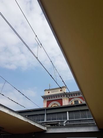 Cable Sky Architecture Built Structure No People Day Cloud - Sky Outdoors Technology Building Exterior Train Station Train Line Torino, Italy Stazione Porta Nuova Partenze E Arrivi